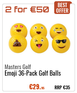 Masters Golf Emoji Golf Balls Yellow